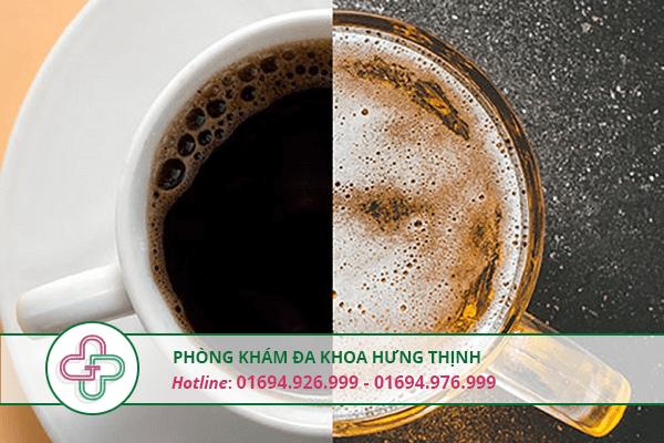 thực phẩm chứa cafein và cồn